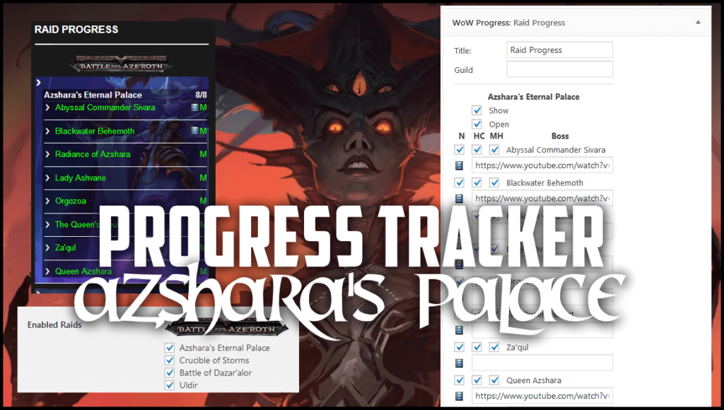 world of warcraft progress tracker for bfa and classic wow free theme download for wordpress